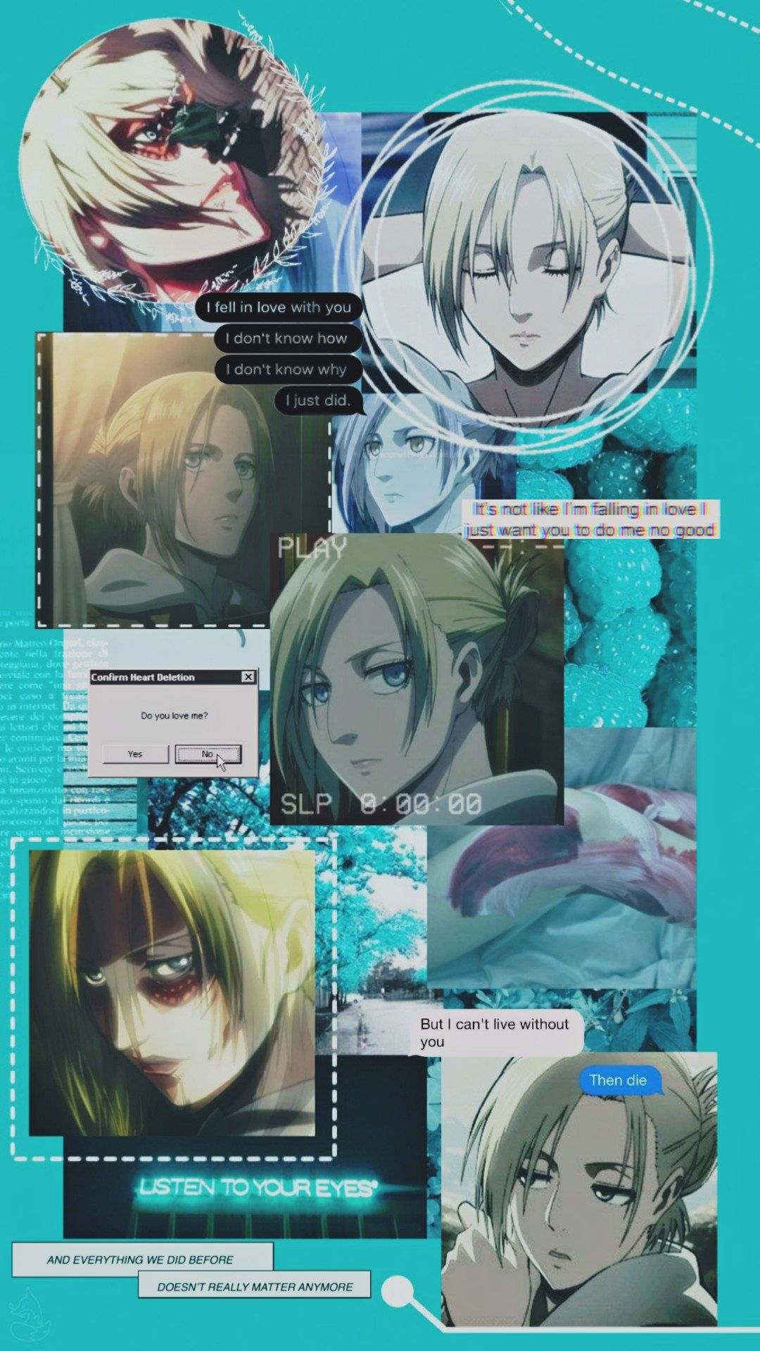 Pin By Madison Reichle On Aot Snk Wallpaper In 2020 Annie Annie Leonhart Attack On Titan