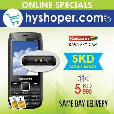 karbonn k595 now KD 5 990 only  #Shoponline at www hyshoper