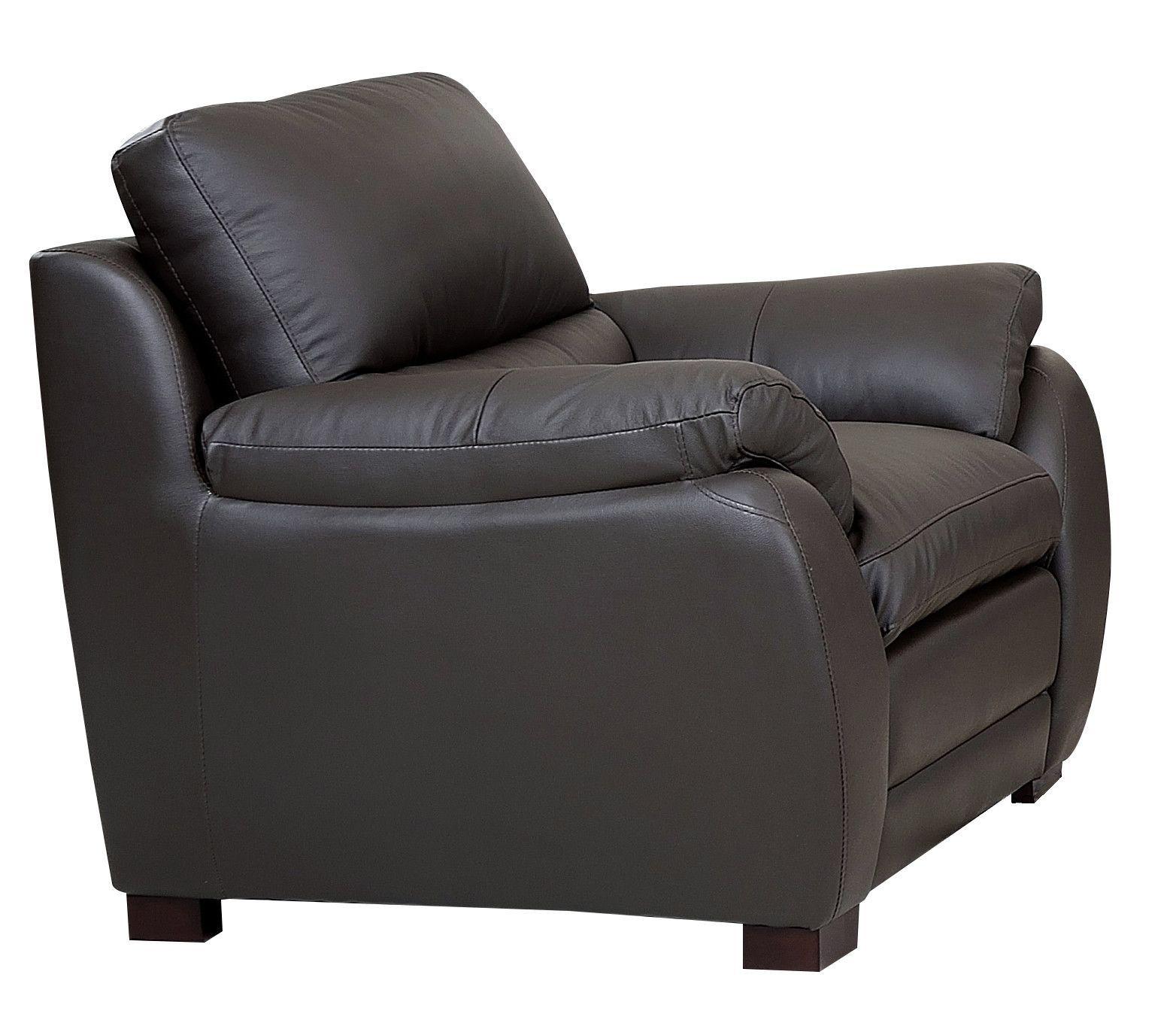 Monarch Top Grain Brown Leather Armchair