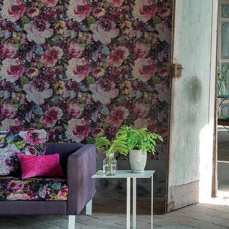 Designers Guild - Mattiazzo Wallpaper - Pdg642/01 Damson | Bea'S