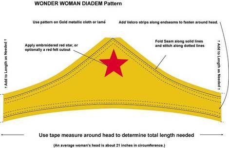 Wonder Woman Headband Printable Download