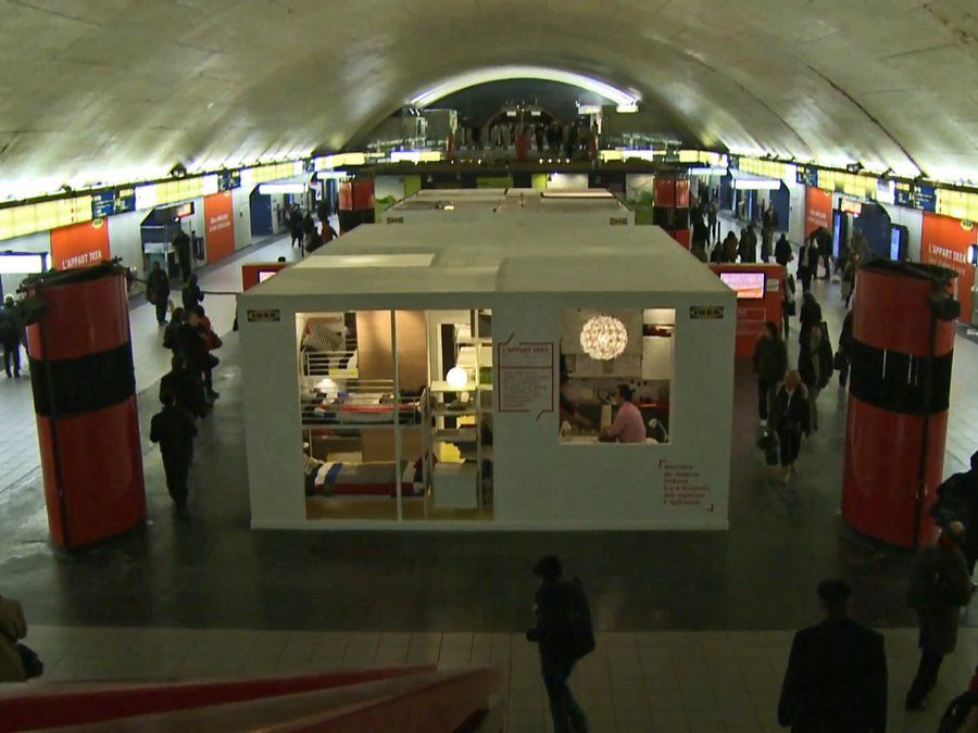 Check Out The Apartment IKEA Just Built In The Middle Of A Paris Metro Station