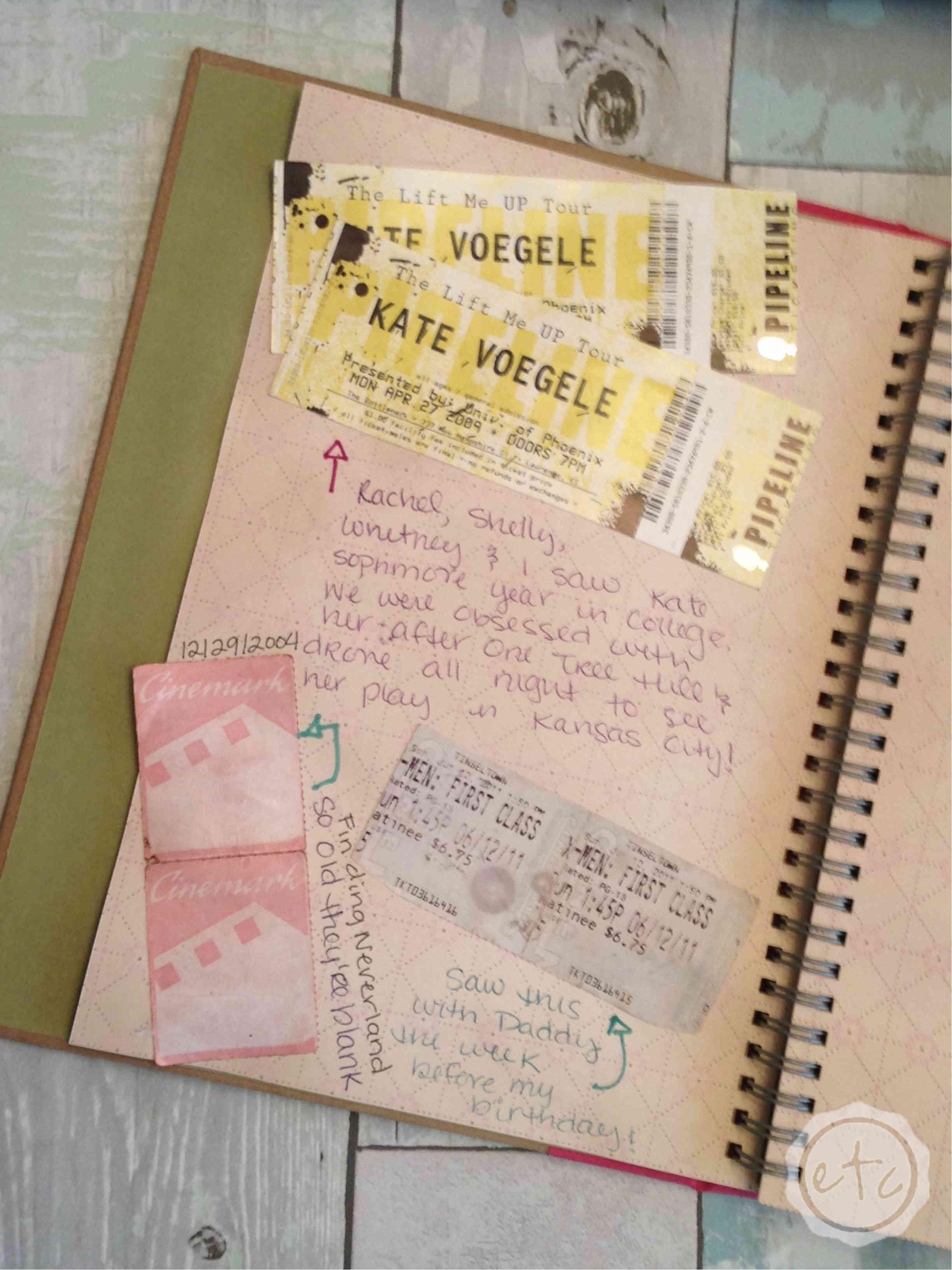saving memories ticket stubs other memorabilia happily ever after etc