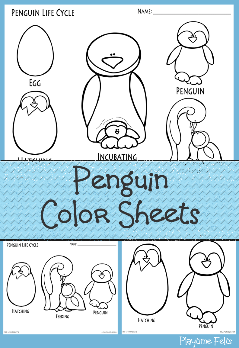 Penguin Coloring Sheets For Preschoolers Available At Playtime Felts Member S Area 1 400 Printables Penguin Color Preschoolactivities Penguen Hayvanlar [ 1152 x 792 Pixel ]