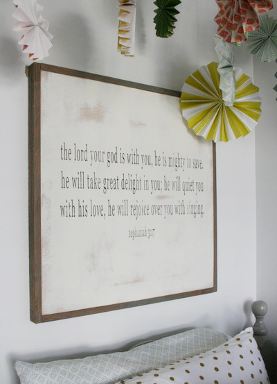 This 2X2 scripture sign is simply and profound.  The best part is that can be customized to your favorite scripture.