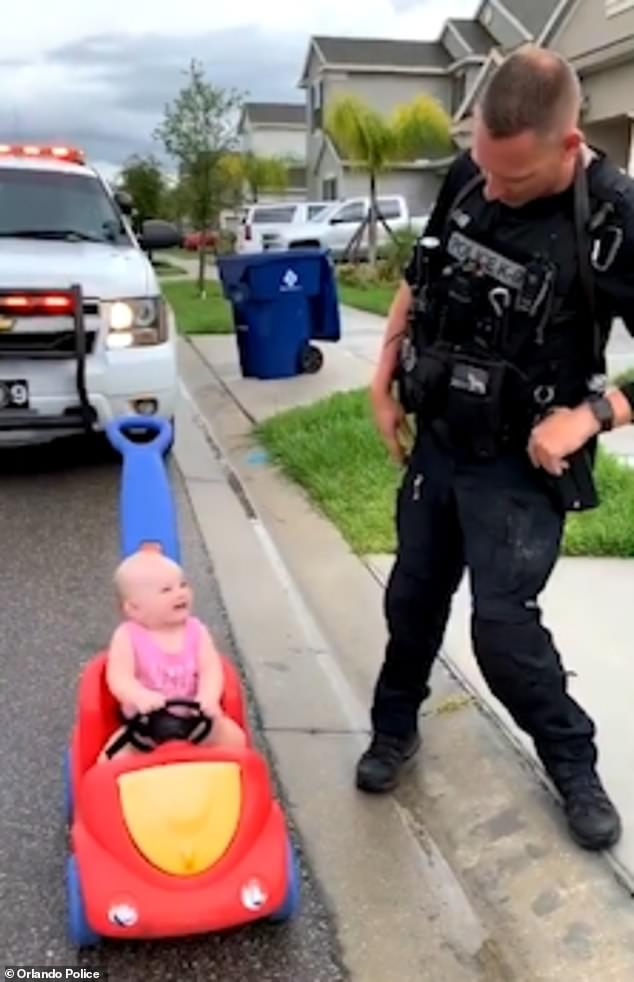 Florida Police Officer Pulls Over His 10 Month Old Daughter Police Officer Police 10 Month Olds