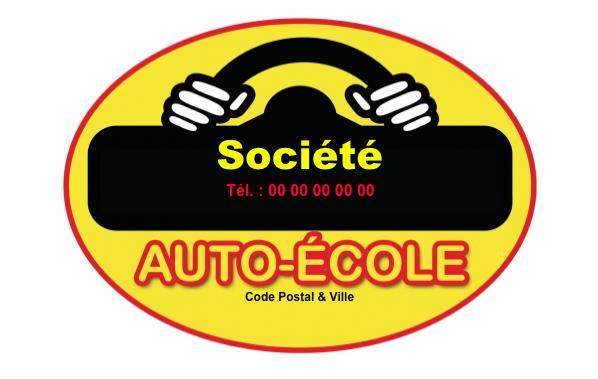 Carte De Visite Metier Auto Ecole Modele A Personnaliser En Ligne Avec Logo Et