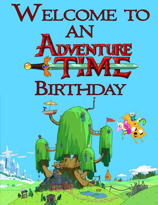 Adventure Time Birthday! Free Printable Party: Banners, Invitations ...