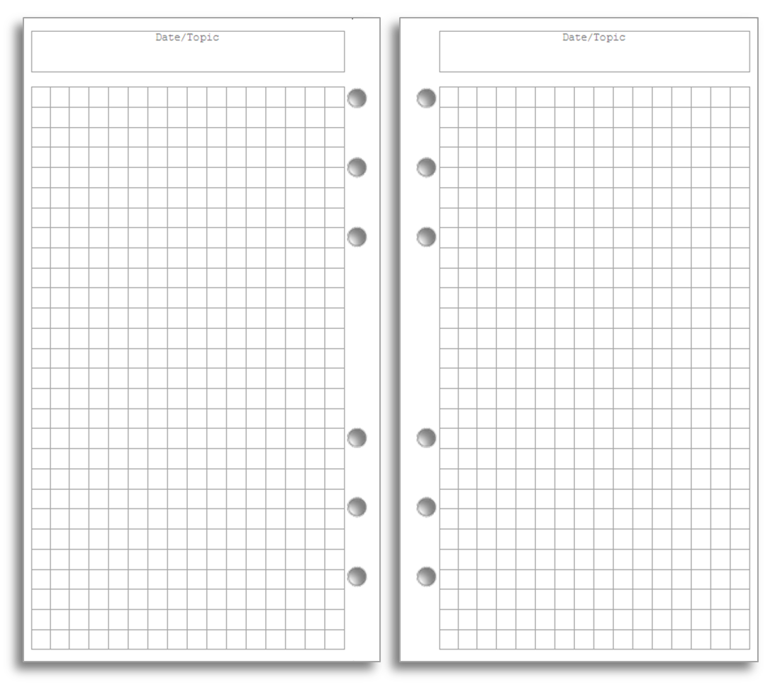 my life all in one place bullet journal pages for your filofax