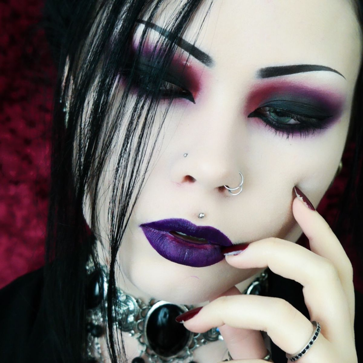 gotico maquillaje
