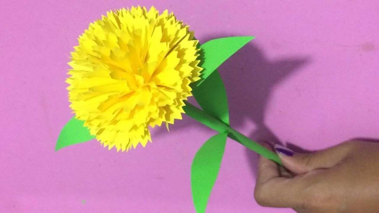 How To Make Carnation Flower With Paper Making Paper Flowers Step