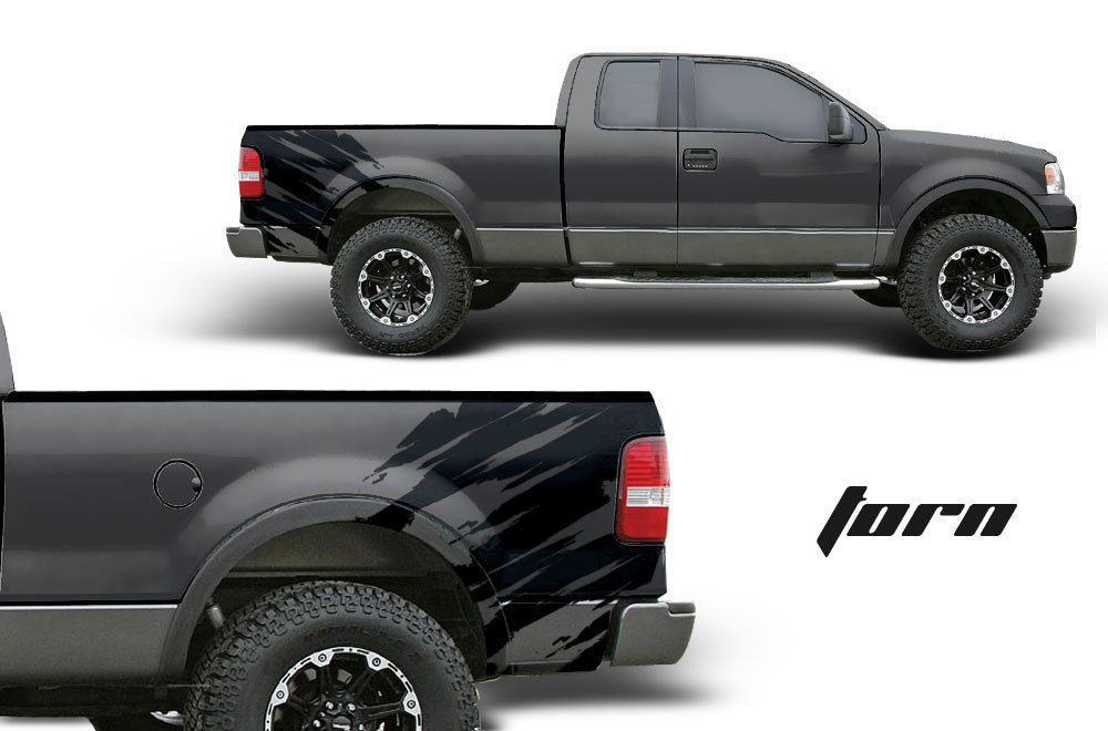 Ford F Truck FX Fender BED Graphic Offroad Vinyl Decal Black - Decals for trucks customizedcustom graphics decals honda chevy ford gmc mitsubishi