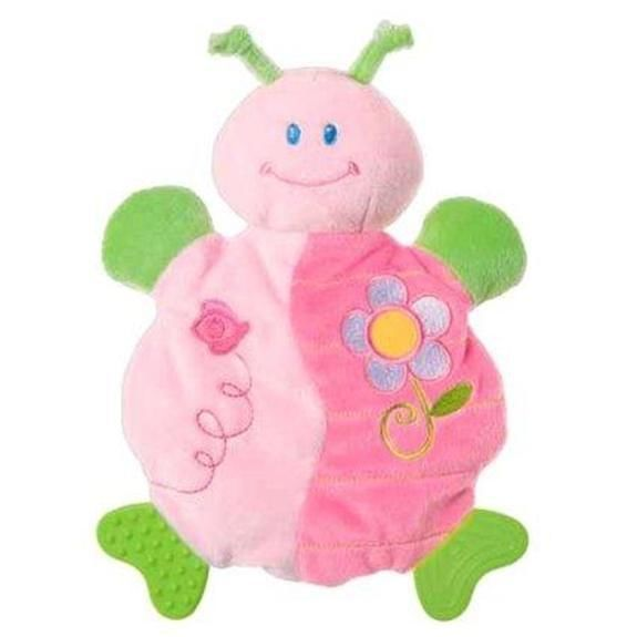 Mary Meyer Little Ladybug Wooby Chew Activity Toy Teether Rattle Crinkle NWT #MaryMeyerBaby