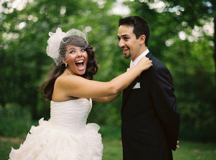 Lin Manuel Vanessa Miranda On Their Wedding Day 9 5 10 Lin Manuel Lin Manuel Miranda Lin Manuel Miranda Funny