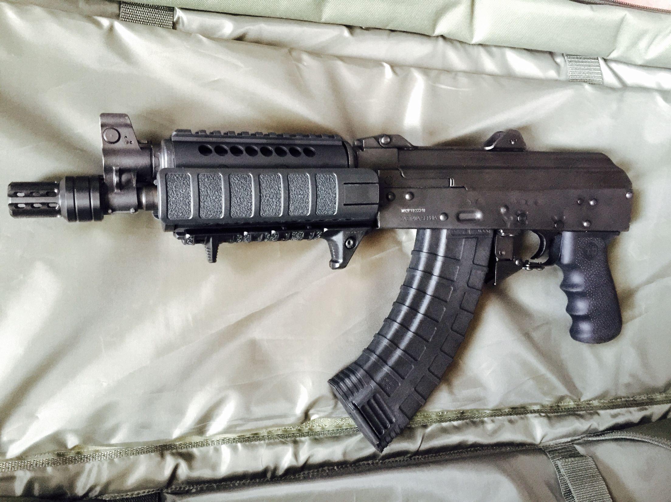 M92 AK pistol w/ Midwest Industries rail, manticore night