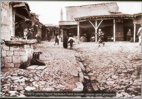ELAZIĞ / HARPUT 1900s arcade in front of the mosque, the overall appearance of Sarahatun