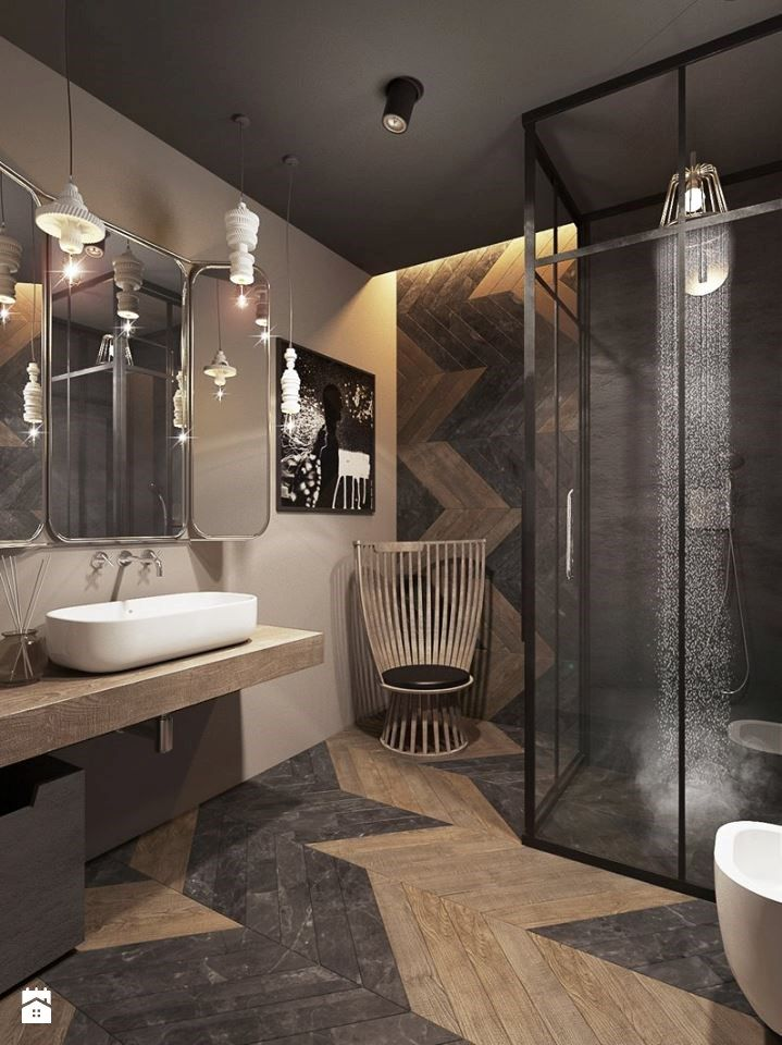 łazienka Styl Eklektyczny Zdjęcie Od Razoo Architekci