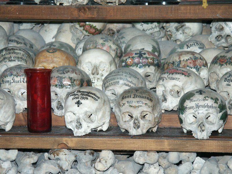 The Beinhaus (Bone House) In Hallstatt, Austria.
