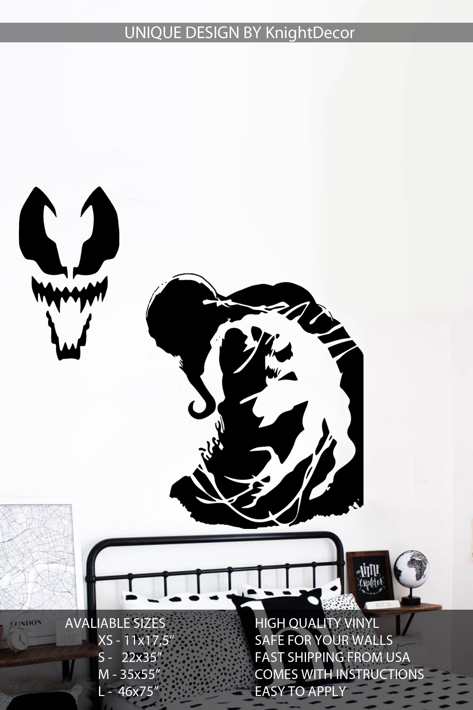 Venom wall decal marvel comics wall art spiderman wall stickers