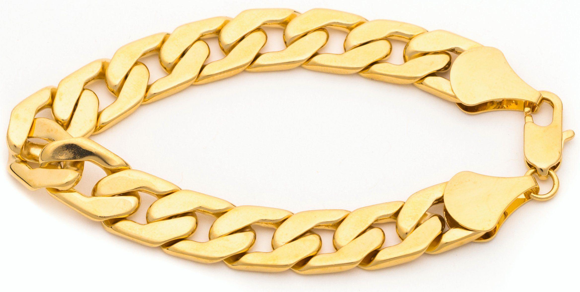 Lifetime jewelry cuban link bracelet mm flat wide k gold over