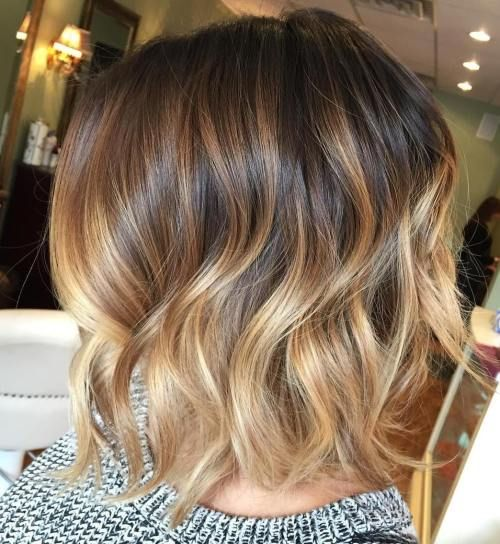 Textured Bob with Beige Highlights