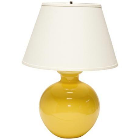 Haeger Potteries Large Bristol Yellow Ceramic Table Lamp 3c733 Lamps Plus Ceramic Table Lamps Table Lamp Lamp