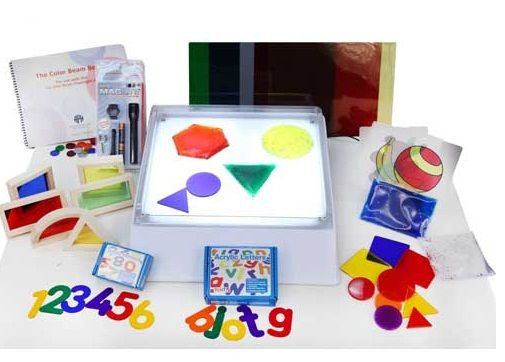 """""""50 Ways to use a Light Box."""" Kids with #CVI tend toward light gazing. Educators are finding ways to use that attraction to drive purposeful gazing in developing visual skills. This list of suggestions for using #lightboxes was provided by Enabling Devices."""