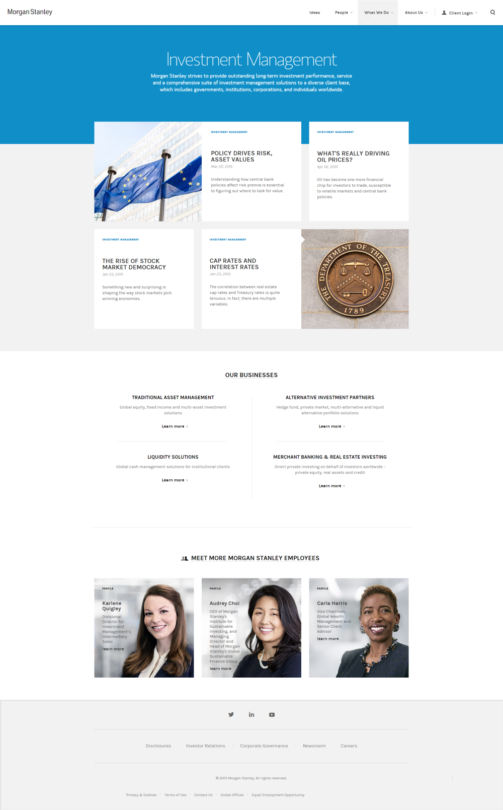 Morgan Stanley Web Design Web Design Projects Site Design