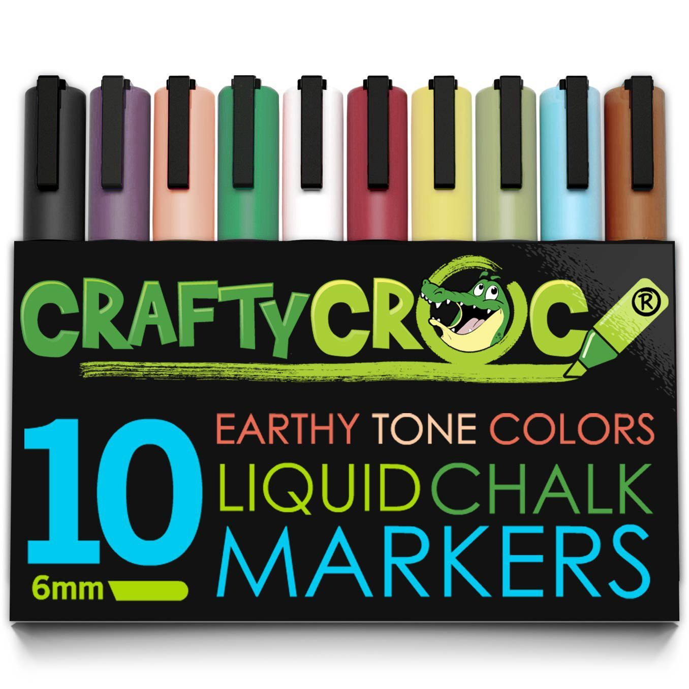 Liquid Chalk Markers 10 Earth Colors Liquid Chalk Markers