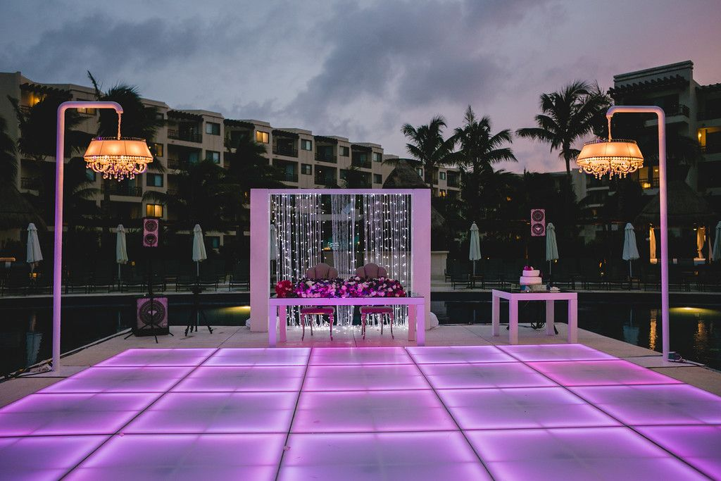 An Led Dance Floor Is A Great Way To Light Up Your Reception As The Sun Goes