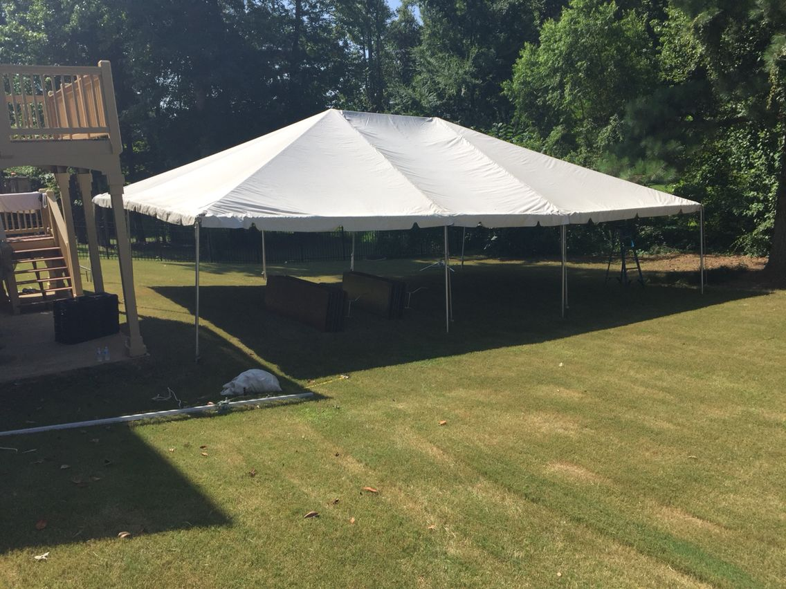 30x40 Frame Tent in Backyard | 30x40 Frame Tents! | Pinterest | Tents
