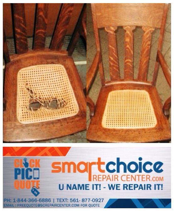 Has your favorite chair seen better days? Let us repair it. Take a picture and text it to: 561-877-0927 for a quick free quote. Or Contact one of our repair specialists at: 1-844-366-6886 for any repair questions . Free pickup and delivery. Www.SmartChoiceRepairCenter.com