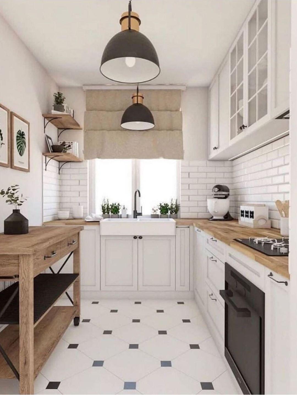 Cuisine blanche et bois scandinave en 17  Armoire de cuisine
