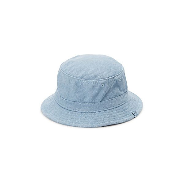 5f1eedc45e9 Herschel Faded denim bucket hat (480.115 IDR) ❤ liked on Polyvore featuring  accessories