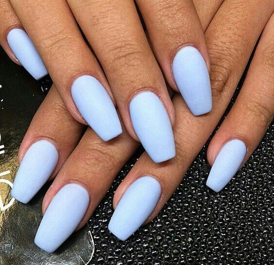 Acrylic Nail Matte Periwinkle In Love With This Color Emiliasig