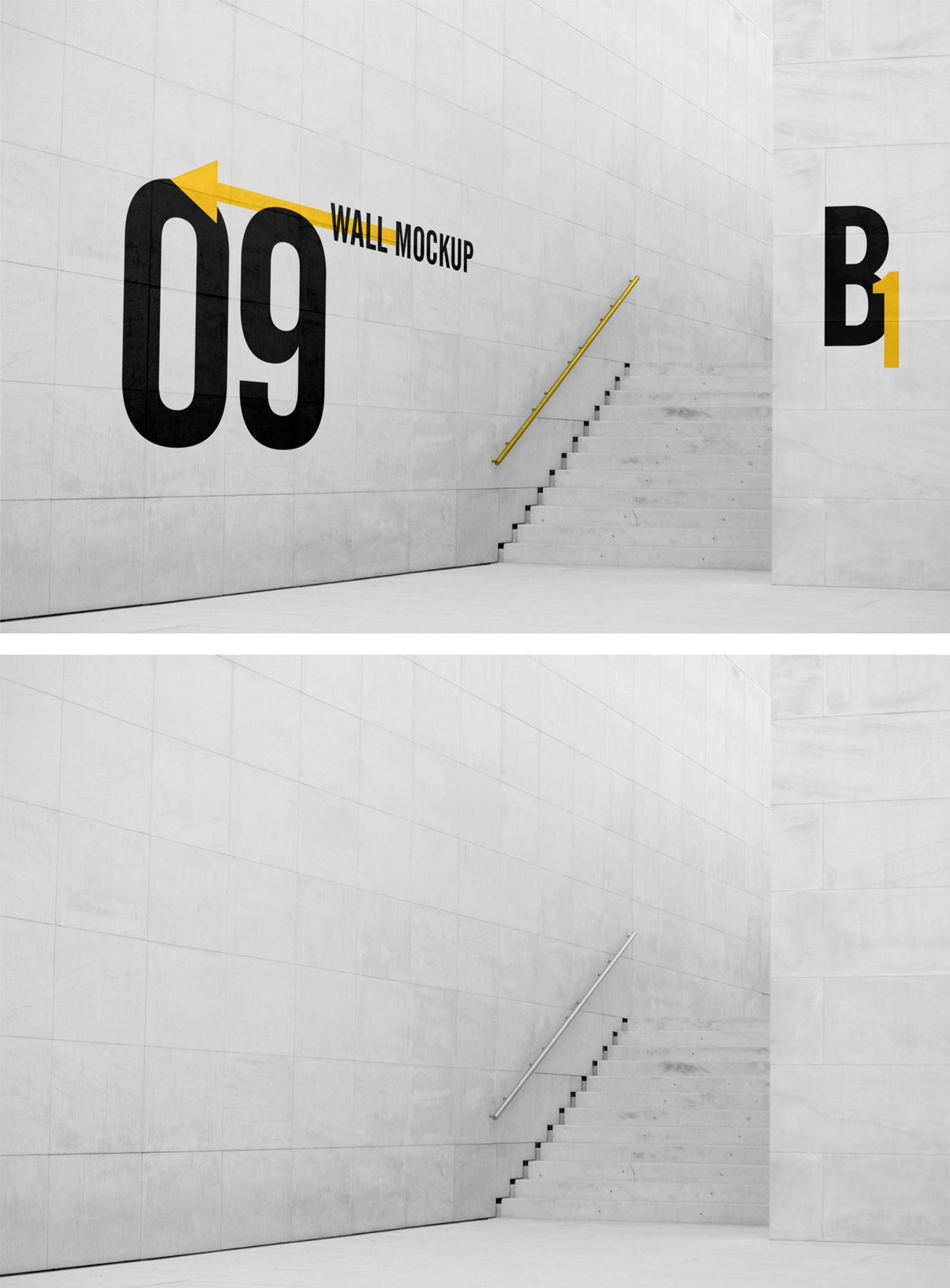 Big Wall Mockup Signage Design Wall Signs Sign Design