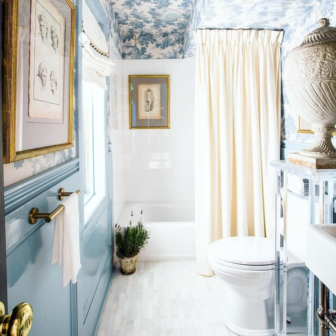 From wallpapered ceiling to high-gloss paint, this ...