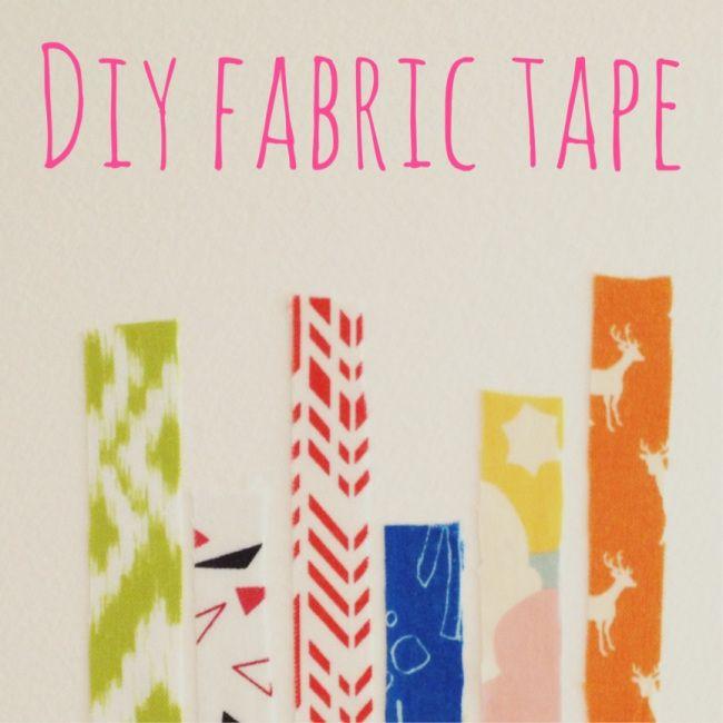 DIY Fabric tape (you know, like washi tape) #fabrictape