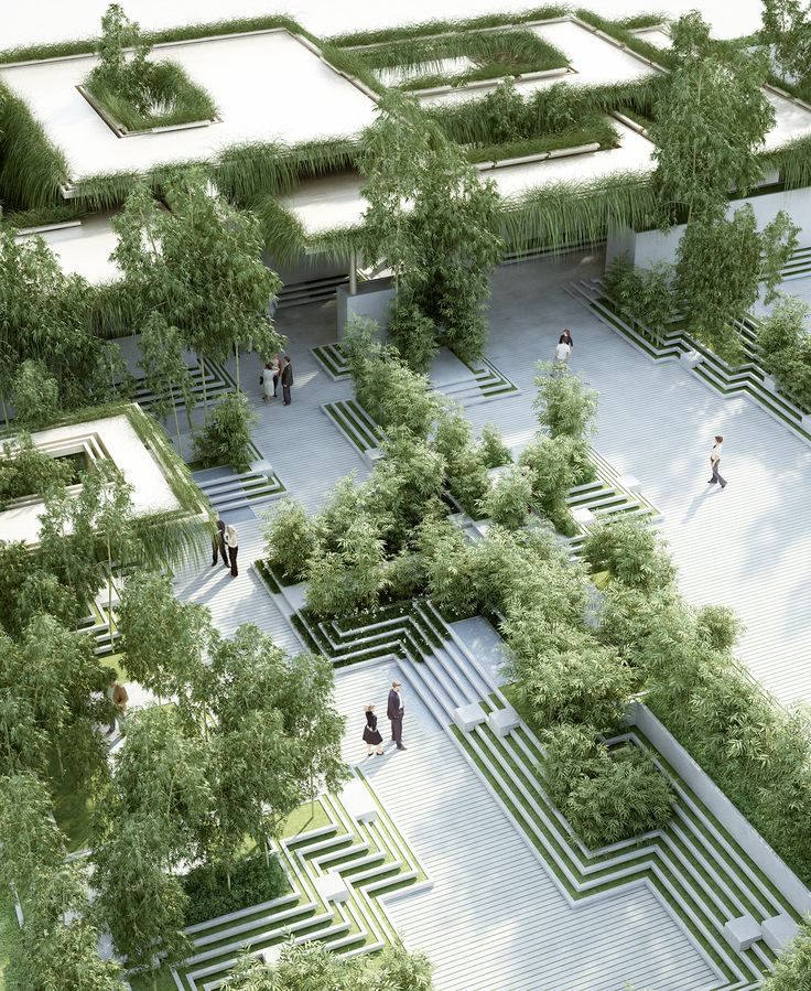 The Project Describes A Landscape Design And Facade Design For A Residential Development In Urban Landscape Design Landscape Architecture Design Ecology Design