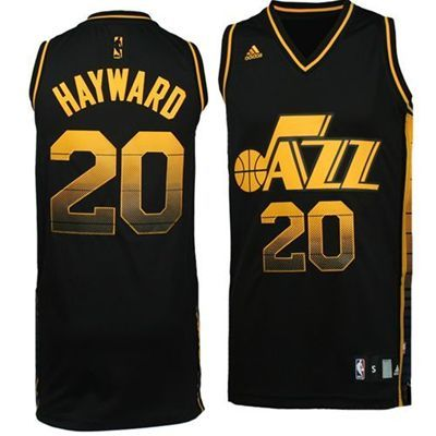 Utah Jazz Gordon Hayward Vibe Jersey (Black)  9b6a5a2db