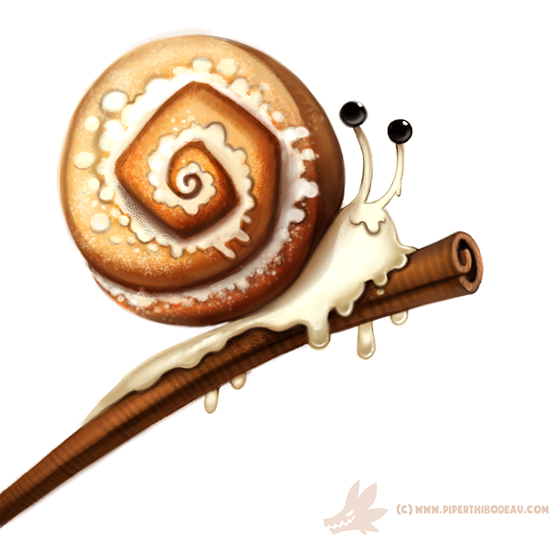 Daily Paint #1010. Cinnamon Snail by Cryptid-Creations on DeviantArt