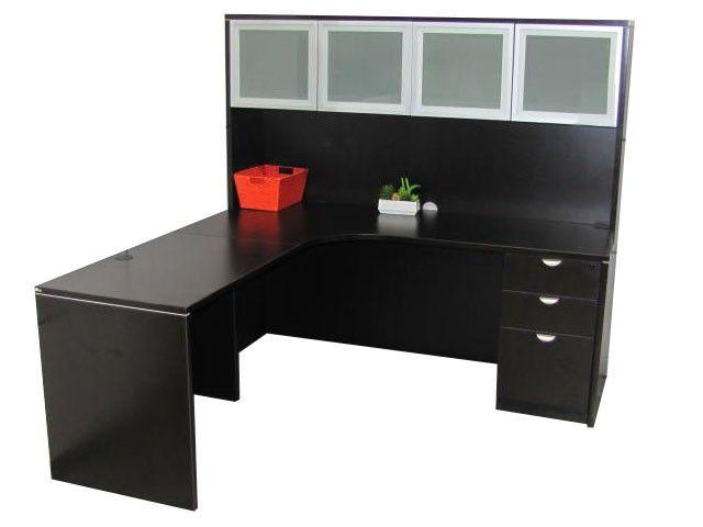 Office Desks Dsa Express Laminate 6 X6 L Shape Desk W Hutch Combo And