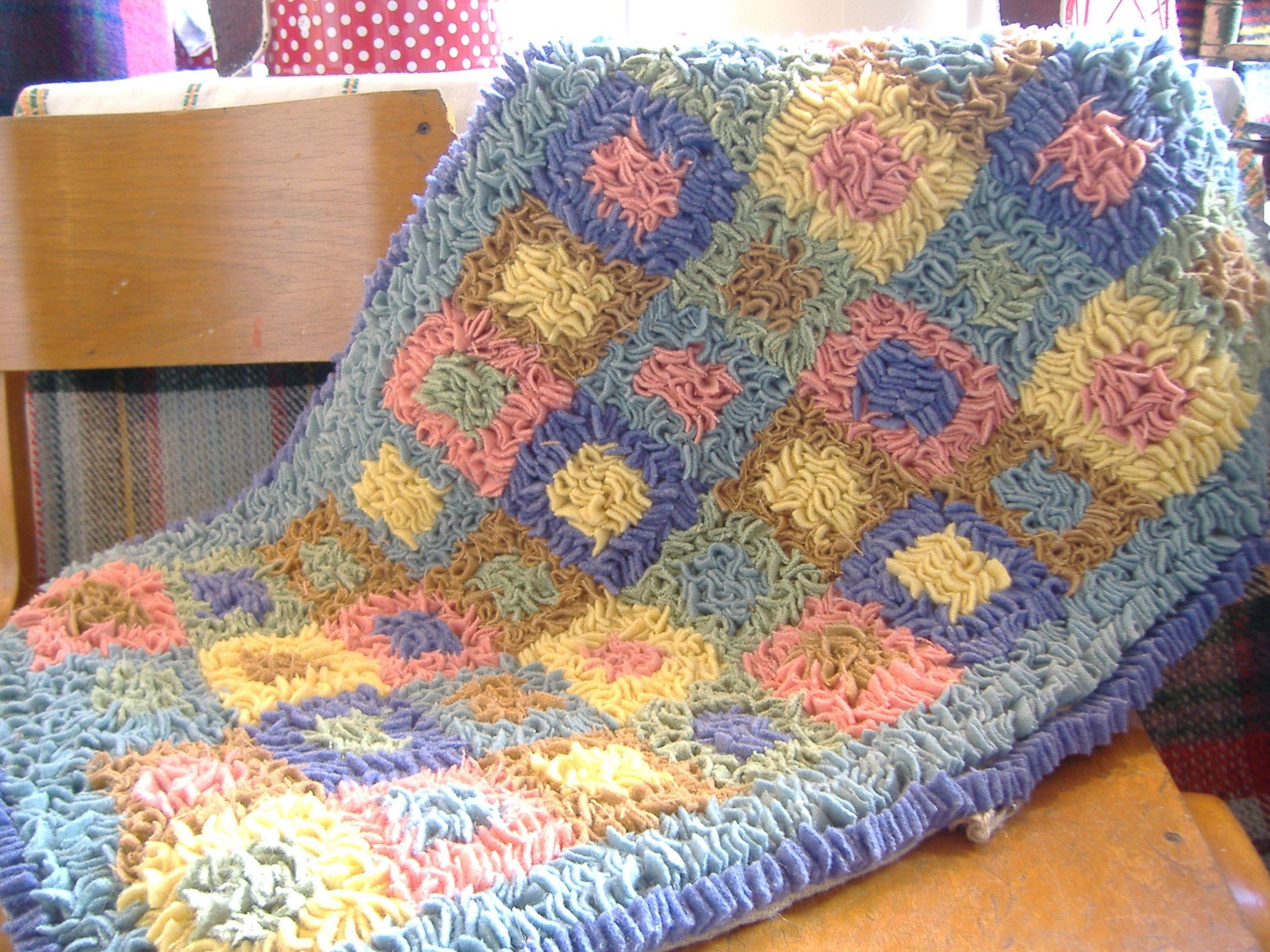 Proggy Rag Rug From Vintage Woollen Blankets Rag Rugs