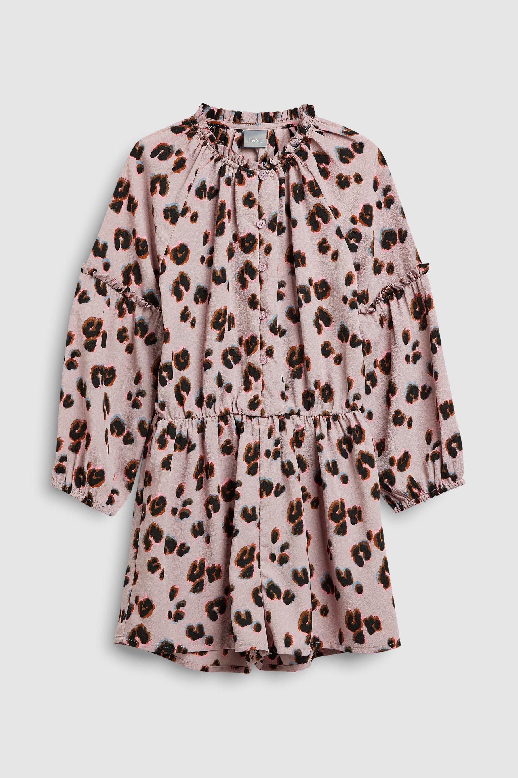 13f3de01c2f0d Girls Next Purple Animal Print Playsuit (3-16yrs) - Pink | moda ...