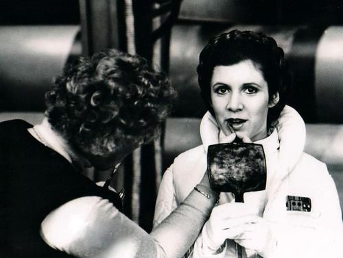 behind the scenes - Carrie Fisher