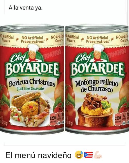Christmas Chef And Chef Boyardee A La Venta Ya Ricialfaoaifcial Noartificial Arf Preservativescolors Avor Puerto Rico Food Chef Boyardee Caribbean Recipes