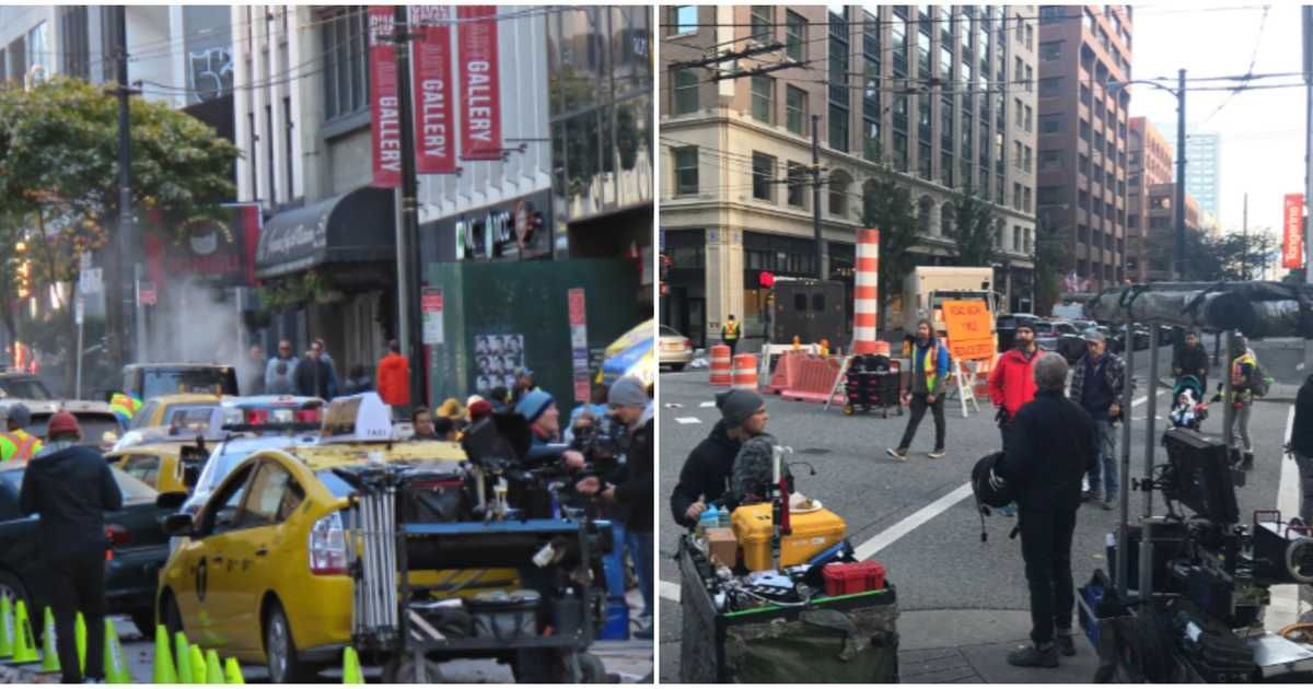 Stephen King Movie Shuts Down Vancouver Streets To Film Gory Scenes Photos Stephen King Movies Kings Movie Scenes