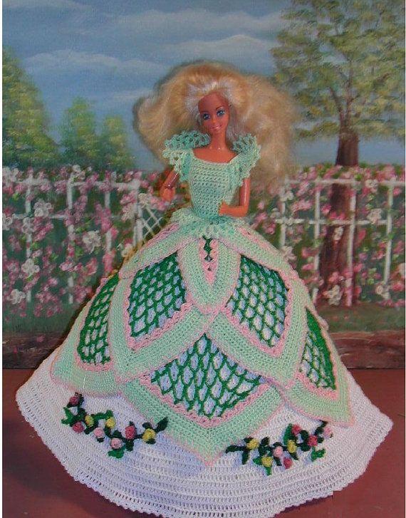 Crochet Fashion Doll Barbie Pattern- #86 SOUTHERN LADY #4 ...
