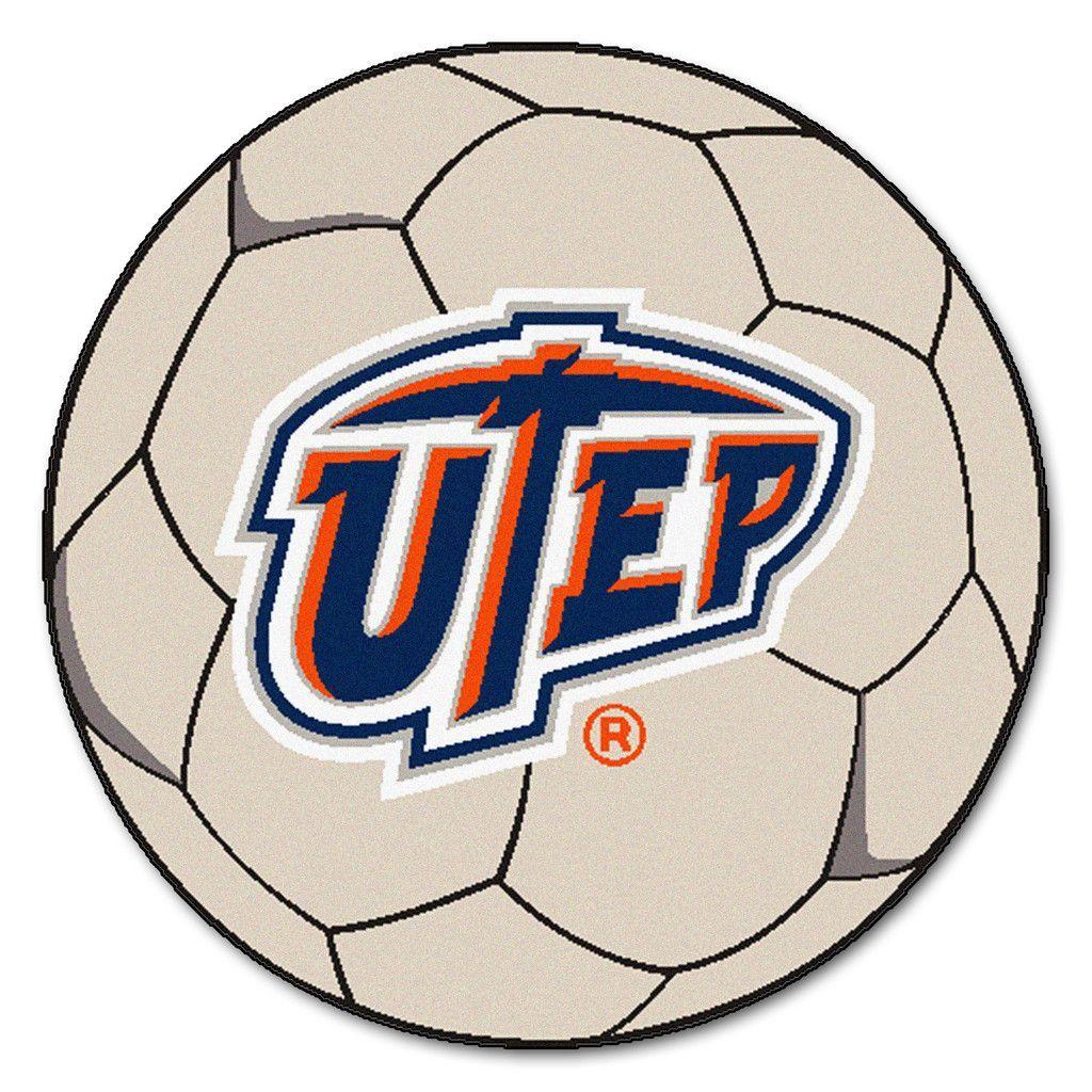 UTEP Miners Soccer Ball Rug Soccer ball, Soccer, Baseball
