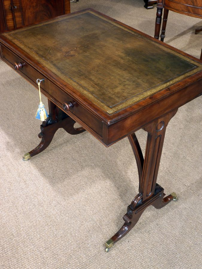 Small Antique Library Table Small Antique Desk Regency